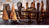 Sailboats in Manhattan II Prints by Marti Bofarull