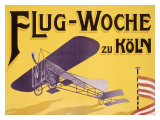 Flug Woche Monoplane Aviation Giclee Print by Max Ponty