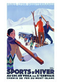 Mont Blanc, Sports d'Hiver Giclee Print