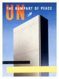 United Nations, The Rampart of Peace Lámina giclée