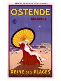 Belgium Ostende Beach Resort Reproduction procédé giclée par Jessie Willcox-Smith