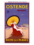 Belgium Ostende Beach Resort Giclee Print by Jessie Willcox-Smith