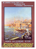 Simplon Orient Express Railway Giclee Print