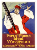 Porte-Plume Ideal Waterman Giclee Print