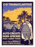 North African Michelin Tire Tour Giclée-tryk af Bernard Villemot