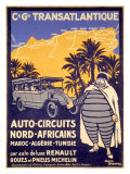 North African Michelin Tire Tour Giclee Print by Bernard Villemot
