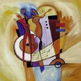 Jazz en el cuadrado Lámina por Alfred Gockel