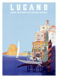 Italian Resort Lugano Giclee Print by Leopoldo Metlicovitz