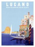 Italian Resort Lugano Giclee Print by Leopoldo Metlicovitz