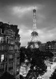Eiffel Tower Evening Print by Henri Silberman