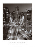 Flatiron Building at Night Poster by Henri Silberman