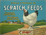 Scratch Feeds Tin Sign