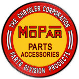 Chrysler Mopar Parts Plaque en métal