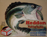 Heddon's Frogs Tin Sign