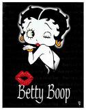 Beso de Betty Boop Cartel de chapa