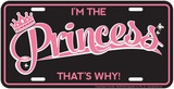 Princess Tin Sign