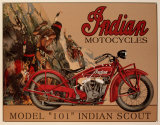 Motorrad &quot;Indian Scout&quot; Blechschild