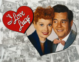 I Love Lucy Tribute Tin Sign