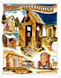 Outhouses Tin Sign by Bob Bates