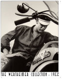 Elvis Werthiemer Elvis on Bike Plaque en métal