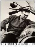 Elvis Werthiemer Elvis sulla moto Targa di latta