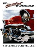 Chevy Heartbeat Plaque en métal