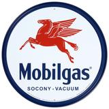 Mobilgas, logo con Pegaso Targa in metallo