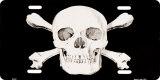 Skull & Crossbones License Plate Plakietka emaliowana