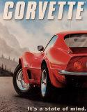 Corvette Plechová cedule