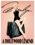 Marilyn Monroe Hollywood Legend Plaque en métal