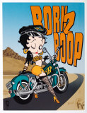 Betty Boop Born to Boop Tin Sign