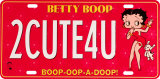 Betty Boop 2CUTE4U License Plate Tin Sign