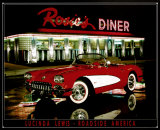 Rosie&#39;s Diner Tin Sign by Lucinda Lewis