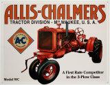 Allis Chalmers Model U - Metal Tabela