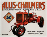 Allis Chalmers Model U Placa de lata