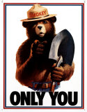 Smokey Bear - Only You Emaille bord