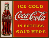 Coca-Cola Plechová cedule