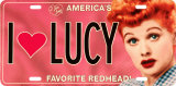 I (HEART) LUCY License Plate Tin Sign
