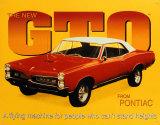 Pontiac 1967 GTO Plechová cedule
