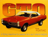 Pontiac GTO, 1967 Cartel de chapa