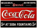 Coca- Cola Plaque en métal