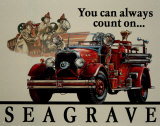 Seabrave Fire Engine Tin Sign