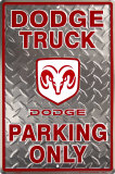 Dodge Truck Placa de lata