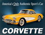 '58er Chevy Corvette Blechschild
