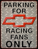 Chevy Racing Parking Tin Sign
