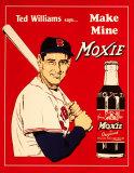 Anuncio del refresco Moxie con Ted Williams Cartel de chapa