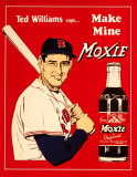 Ted Williams' Moxie Tin Sign