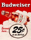 Budweiser 25 Cents - Metal Tabela
