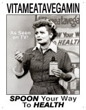 I Love Lucy Vitameatavegamin Tin Sign