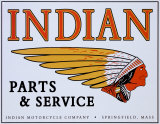 Indian Logo Tin Sign